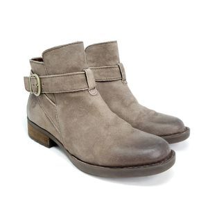 Born Jorgette Distressed Gray Suede Ankle Boots
